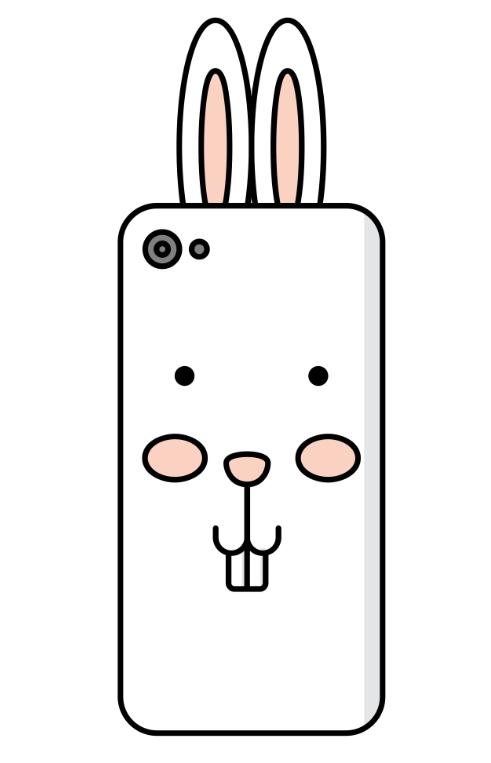 【兔子手机壳简笔画步骤图解】兔子手机套怎么画