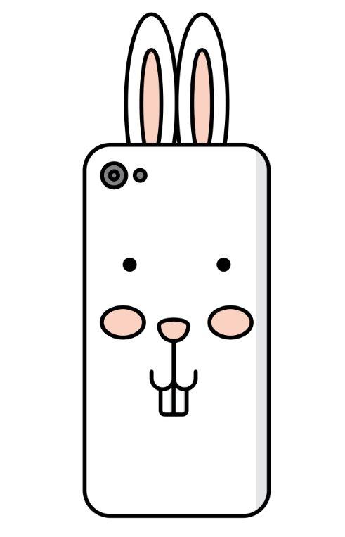 【长颈鹿手机壳简笔画步骤图解】长颈鹿手机套怎么画图片